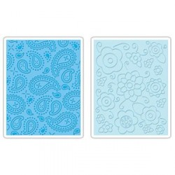 Flower Spring & Paisley Set Textured Impressions Embossing Folders