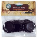 Bottle Caps Flattened Black 12 pkg