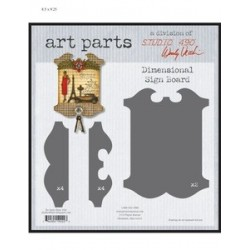 Dimensional Sign Board Art Parts Chipboard Studio 490 Wendy Vecchi