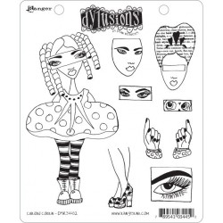 Curious Corrin Dyan Reaveley's Dylusions Cling Stamp