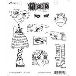 Pondering Petunia Dyan Reaveley's Dylusions Cling Stamp