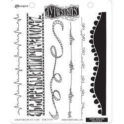 Bordering On The Edge Dyan Reaveley's Dylusions Cling Stamp