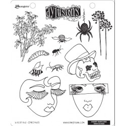 Bits Of This Dyan Reaveley's Dylusions Cling Stamp