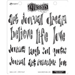 Word Love Dyan Reaveley's Dylusions Cling Stamp