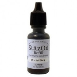 Jet Black Ink Refill Staz On