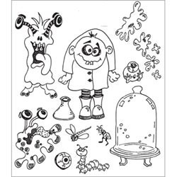 Monster Mash Dyan Reaveley's Dylusions Cling Stamp