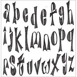 Dy's Alphabet Dyan Reaveley's Dylusions Cling Stamp