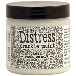 Distress Crackle Paint Clear Rock Candy 118 ml