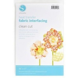 Heat Transfer Fabric Clean Cut Interfacing Silhouette