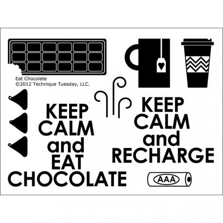 Eat Chocolate Clear Stamps Technique Tuesday