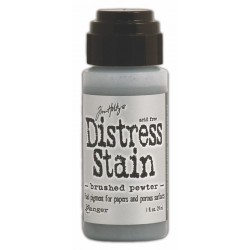 Brushed Pewter Metallic Distress Stain