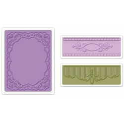 Oval Lace Set Textured Impressions Embossing Folders
