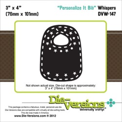 Personalize It Bib Whispers Die Die-Versions
