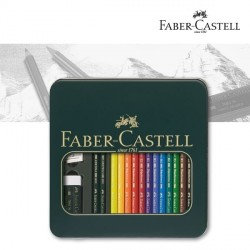 Polychromos Gift Box 12 Colour Pencils Faber Castell