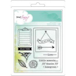 Dear Lizzy 5th & Frolic Dear Lizzy Lucky Charm Acrylic Stamps