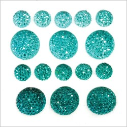 Sea Breeze Sparklets Self-Adhesive Rhinestone Clusters Kaisercraft