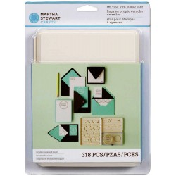 Set Your Own Stamp Case 318pc Martha Stewart