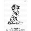 Praying Boy Cling Rubber Stamp Our Daily Bread desings