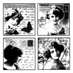Love Letter Ladies Rubber Stamp Crafty Individuals