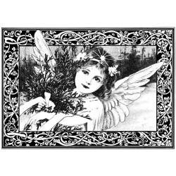 An Adorable Christmas Angel Rubber Stamp Crafty Individuals