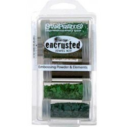 Encrusted Jewel Green Kit Frantage Embossing Powder