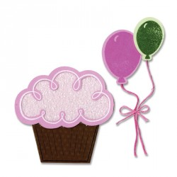 Balloons & Cupcake Sizzix Framelits Die