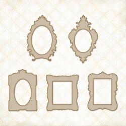 Petite Boutique Frames Chipboard Blue Fern