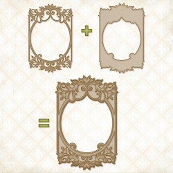 Bordeaux Layered Frame Chipboard Blue Fern