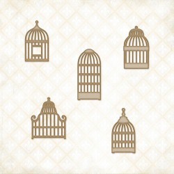 Veranda Cage Set Chipboard Blue Fern
