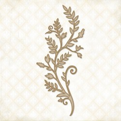 Organic Vine Chipboard Blue Fern