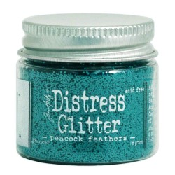 Peacock Feathers Distress Glitter