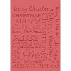 Merry Christmas Craft C. Embossing Folder