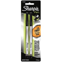 Black Sharpie Pen Stylo Fine 2 pkg