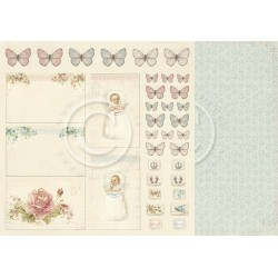 """Cut Out 12"""" x 12"""" Sweet Baby Pion design"""