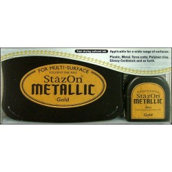 Stazon Gold Metallic Ink Kit