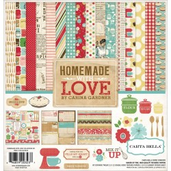 "Homemade With Love 12""x12"" Collection Kit Carta Bella"