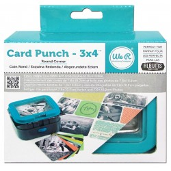 Round Corner Card Punch 3x4 We're Memory Keepers