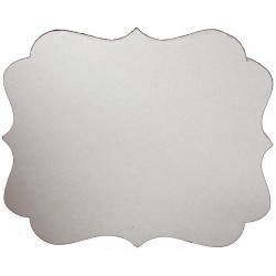 "Label Style 7""x9"" Back Drops Chipboard Shapes Melissa Frances"
