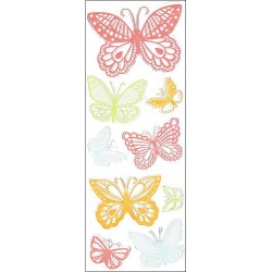 Doily Lace Butterflies Clear Stamps Martha Stewart
