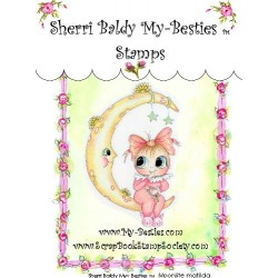 Moonlite Matilda Clear Rubber Stamp My Besties