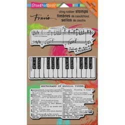 Musical Motif Cling Rubber Stamp Stampendous
