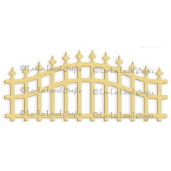 Wrought Iron Fence Die La-La Land Crafts