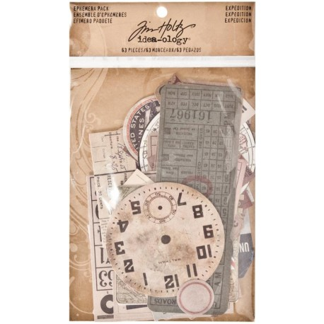 Expedition Ephemera Pack Idea Oloy by Tim Holtz