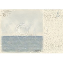 "Sailing 12"" x 12"" Shoreline Treasures Pion design"