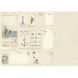 "Tags 12"" x 12"" Shoreline Treasures Pion design"