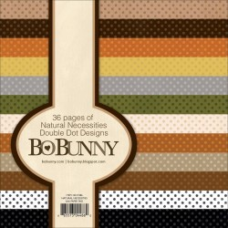"""Natural Necessities Double Dot Paper Pad 6""""x6"""" Bo Bunny"""