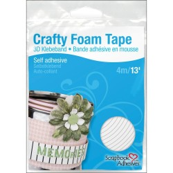 White Crafty Foam Tape Self Adhesive Scrapbook Adhesive