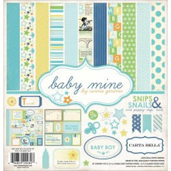 "Baby Mine Boy 12""x12"" Collection Kit Carta Bella"