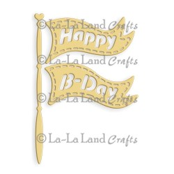 Birthday Flag Die La-La Land Crafts