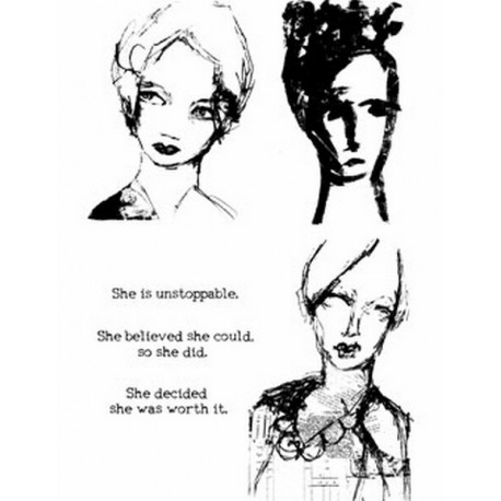 Scribbly Woman Dina Wakley Media Stamps